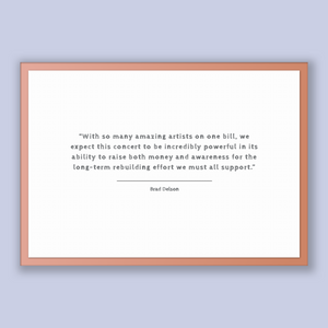 Brad Delson Quote, Brad Delson Poster, Brad Delson Print, Printable Poster, With so many amazing artists on one bill, we expect this conc...
