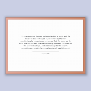 Laurence Tribe Quote, Laurence Tribe Poster, Laurence Tribe Print, Printable Poster, Even those who, like me, believe that Roe v. Wade an...