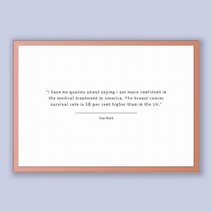 Koo Stark Quote, Koo Stark Poster, Koo Stark Print, Printable Poster, I have no qualms about saying I am more confident in the medical tr...