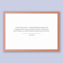 Load image into Gallery viewer, Carly Fiorina Quote, Carly Fiorina Poster, Carly Fiorina Print, Printable Poster, Most of the media... is positioning the merger with Com...