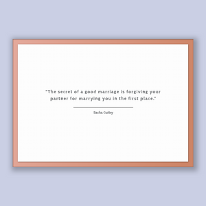 Sacha Guitry Quote, Sacha Guitry Poster, Sacha Guitry Print, Printable Poster, The secret of a good marriage is forgiving your partner fo...