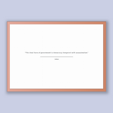 Load image into Gallery viewer, Voltaire Quote, Voltaire Poster, Voltaire Print, Printable Poster, The ideal form of government is democracy tempered with assassination.