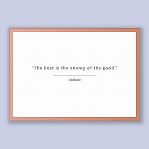 Voltaire Quote, Voltaire Poster, Voltaire Print, Printable Poster, The best is the enemy of the good.