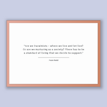 Load image into Gallery viewer, Mario Batali Quote, Mario Batali Poster, Mario Batali Print, Printable Poster, Are we Darwinists - where we live and let live? Or are we ...