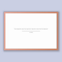 Load image into Gallery viewer, Jim Horning Quote, Jim Horning Poster, Jim Horning Print, Printable Poster, Good judgement comes from experience. Experience comes from b...