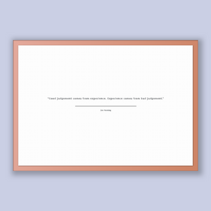 Jim Horning Quote, Jim Horning Poster, Jim Horning Print, Printable Poster, Good judgement comes from experience. Experience comes from b...