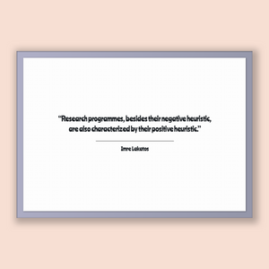 Imre Lakatos Quote, Imre Lakatos Poster, Imre Lakatos Print, Printable Poster, Research programmes, besides their negative heuristic, are...