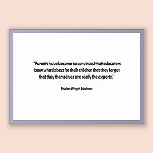Marian Wright Edelman Quote, Marian Wright Edelman Poster, Marian Wright Edelman Print, Printable Poster, Parents have become so convince...