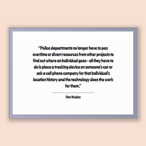 Ron Wyden Quote, Ron Wyden Poster, Ron Wyden Print, Printable Poster, Police departments no longer have to pay overtime or divert resourc...
