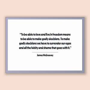 James Mcgreevey Quote, James Mcgreevey Poster, James Mcgreevey Print, Printable Poster, To be able to love and live in freedom means to b...