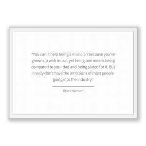 Dhani Harrison Quote, Dhani Harrison Poster, Dhani Harrison Print, Printable Poster, You can' t help being a musician because you've grow...