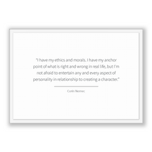 Load image into Gallery viewer, Corin Nemec Quote, Corin Nemec Poster, Corin Nemec Print, Printable Poster, I have my ethics and morals. I have my anchor point of what i...