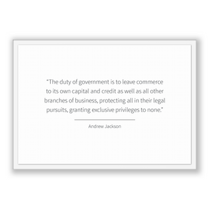 Andrew Jackson Quote, Andrew Jackson Poster, Andrew Jackson Print, Printable Poster, The duty of government is to leave commerce to its o...