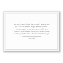 Load image into Gallery viewer, Dennis Prager Quote, Dennis Prager Poster, Dennis Prager Print, Printable Poster, Although images of perfection in people's personal live...