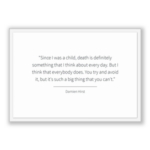 Damien Hirst Quote, Damien Hirst Poster, Damien Hirst Print, Printable Poster, Since I was a child, death is definitely something that I ...