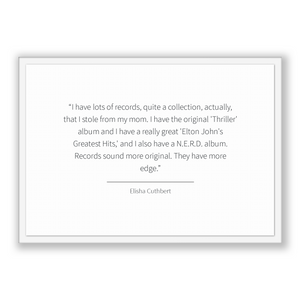 Elisha Cuthbert Quote, Elisha Cuthbert Poster, Elisha Cuthbert Print, Printable Poster, I have lots of records, quite a collection, actua...