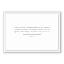 Load image into Gallery viewer, Douglas Feith Quote, Douglas Feith Poster, Douglas Feith Print, Printable Poster, They have involved co-operation between the Iraqi intel...
