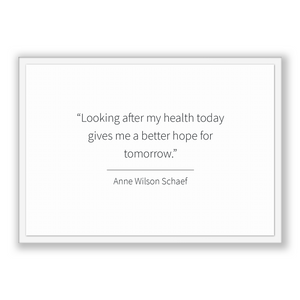 Anne Wilson Schaef Quote, Anne Wilson Schaef Poster, Anne Wilson Schaef Print, Printable Poster, Looking after my health today gives me a...