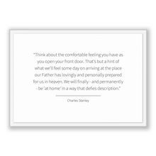 Load image into Gallery viewer, Charles Stanley Quote, Charles Stanley Poster, Charles Stanley Print, Printable Poster, Think about the comfortable feeling you have as y...