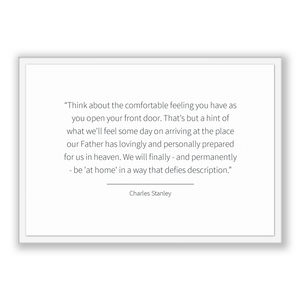 Charles Stanley Quote, Charles Stanley Poster, Charles Stanley Print, Printable Poster, Think about the comfortable feeling you have as y...