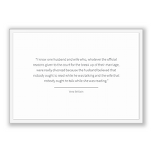 Load image into Gallery viewer, Vera Brittain Quote, Vera Brittain Poster, Vera Brittain Print, Printable Poster, I know one husband and wife who, whatever the official ...