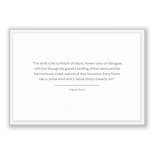 Load image into Gallery viewer, Auguste Rodin Quote, Auguste Rodin Poster, Auguste Rodin Print, Printable Poster, The artist is the confidant of nature, flowers carry on...