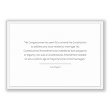 Load image into Gallery viewer, Judy Biggert Quote, Judy Biggert Poster, Judy Biggert Print, Printable Poster, No Congress ever has seen fit to amend the Constitution to...