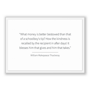 William Makepeace Thackeray Quote, William Makepeace Thackeray Poster, William Makepeace Thackeray Print, Printable Poster, What money is...