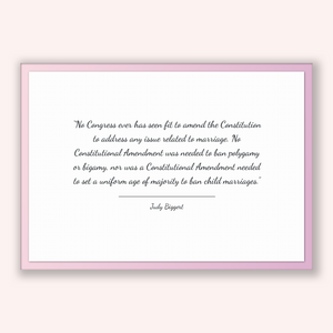 Judy Biggert Quote, Judy Biggert Poster, Judy Biggert Print, Printable Poster, No Congress ever has seen fit to amend the Constitution to...