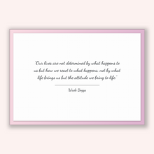 Load image into Gallery viewer, Wade Boggs Quote, Wade Boggs Poster, Wade Boggs Print, Printable Poster, Our lives are not determined by what happens to us but how we re...