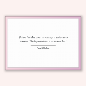 Garret Dillahunt Quote, Garret Dillahunt Poster, Garret Dillahunt Print, Printable Poster, But the fact that same-sex marriage is still a...