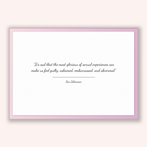 Sue Johanson Quote, Sue Johanson Poster, Sue Johanson Print, Printable Poster, It's sad that the most glorious of sexual experiences can ...