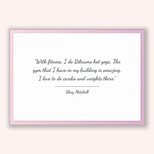 Shay Mitchell Quote, Shay Mitchell Poster, Shay Mitchell Print, Printable Poster, With fitness, I do Bikrams hot yoga. The gym that I hav...