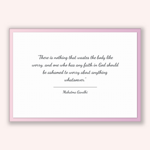 Mahatma Gandhi Quote, Mahatma Gandhi Poster, Mahatma Gandhi Print, Printable Poster, There is nothing that wastes the body like worry, an...