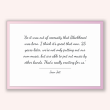 Load image into Gallery viewer, Joan Jett Quote, Joan Jett Poster, Joan Jett Print, Printable Poster, So it was out of necessity that Blackheart was born. I think it's g...