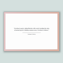 Load image into Gallery viewer, Norman O. Brown Quote, Norman O. Brown Poster, Norman O. Brown Print, Printable Poster, Freedom is poetry, taking liberties with words, b...