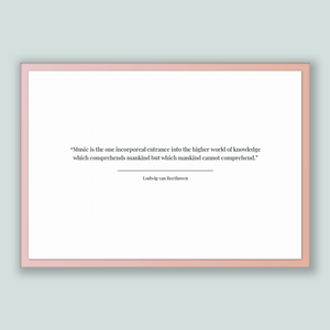 Ludwig Van Beethoven Quote, Ludwig Van Beethoven Poster, Ludwig Van Beethoven Print, Printable Poster, Music is the one incorporeal entra...