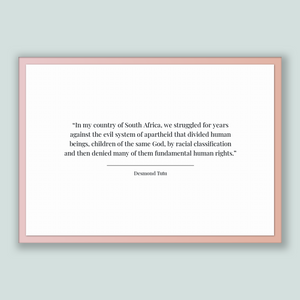 Desmond Tutu Quote, Desmond Tutu Poster, Desmond Tutu Print, Printable Poster, In my country of South Africa, we struggled for years agai...