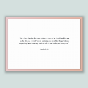 Douglas Feith Quote, Douglas Feith Poster, Douglas Feith Print, Printable Poster, They have involved co-operation between the Iraqi intel...