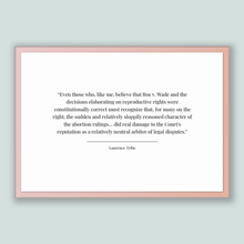 Load image into Gallery viewer, Laurence Tribe Quote, Laurence Tribe Poster, Laurence Tribe Print, Printable Poster, Even those who, like me, believe that Roe v. Wade an...