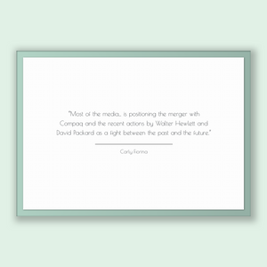 Carly Fiorina Quote, Carly Fiorina Poster, Carly Fiorina Print, Printable Poster, Most of the media... is positioning the merger with Com...