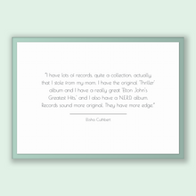 Load image into Gallery viewer, Elisha Cuthbert Quote, Elisha Cuthbert Poster, Elisha Cuthbert Print, Printable Poster, I have lots of records, quite a collection, actua...