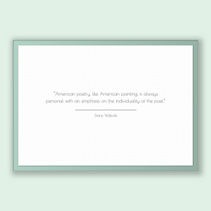 Diane Wakoski Quote, Diane Wakoski Poster, Diane Wakoski Print, Printable Poster, American poetry, like American painting, is always pers...