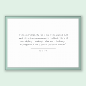 David Soul Quote, David Soul Poster, David Soul Print, Printable Poster, I was never jailed. The fact is that I was arrested, but I went ...