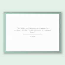 Load image into Gallery viewer, Eric Schmidt Quote, Eric Schmidt Poster, Eric Schmidt Print, Printable Poster, I don't believe society understands what happens when ever...