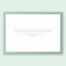 Load image into Gallery viewer, Ludwig Van Beethoven Quote, Ludwig Van Beethoven Poster, Ludwig Van Beethoven Print, Printable Poster, Music is the one incorporeal entra...