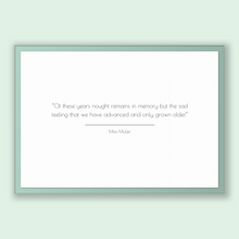 Load image into Gallery viewer, Max Muller Quote, Max Muller Poster, Max Muller Print, Printable Poster, Of these years nought remains in memory but the sad feeling that...