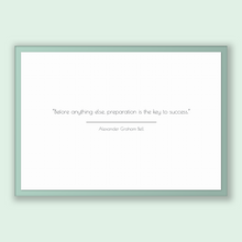 Load image into Gallery viewer, Alexander Graham Bell Quote, Alexander Graham Bell Poster, Alexander Graham Bell Print, Printable Poster, Before anything else, preparati...