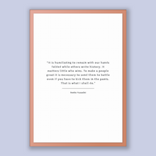 Load image into Gallery viewer, Benito Mussolini Quote, Benito Mussolini Poster, Benito Mussolini Print, Printable Poster, It is humiliating to remain with our hands fol...