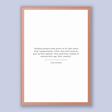 Load image into Gallery viewer, Karen Armstrong Quote, Karen Armstrong Poster, Karen Armstrong Print, Printable Poster, Religious people often prefer to be right rather ...